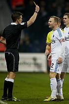 Kenn Hansen, dommer, Lars Jacobsen, anf�rer (FC K�benhavn)
