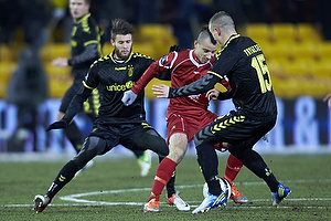 Daniel Stenderup (Br�ndby IF), Mikkel Beckmann (FC Nordsj�lland), Mikkel Thygesen (Br�ndby IF)