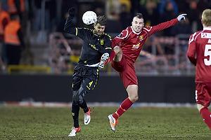 Daniel Stenderup (Br�ndby IF), Mikkel Beckmann (FC Nordsj�lland)