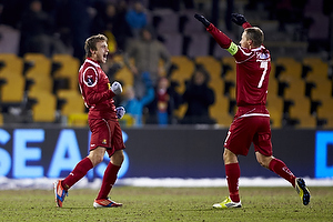 Mario Ticinovic, m�lscorer (FC Nordsj�lland), Nikolaj Stokholm, anf�rer (FC Nordsj�lland)