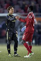 Mike Jensen (Br�ndby IF), Enoch Adu (FC Nordsj�lland)