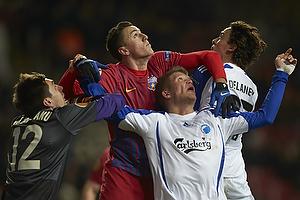 Andreas Cornelius (FC K�benhavn), Thomas Delaney (FC K�benhavn), Ciprian Tatarusanu (FC Steaua Bukarest)
