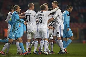 Thomas Delaney, m�lscorer (FC K�benhavn), Ragnar Sigurdsson (FC K�benhavn), Pierre Bengtsson (FC K�benhavn), Nicolai J�rgensen (FC K�benhavn), Thomas Kristensen (FC K�benhavn)