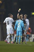 Michael Johansen, dommer, Anders Christiansen (FC Nordsj�lland), Claudemir De Souza (FC K�benhavn), Thomas Kristensen (FC K�benhavn)