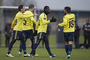 Franck Semou, m�lscorer (Br�ndby IF), Daniel Norouzi (Br�ndby IF), Frederik Holst (Br�ndby IF)