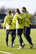 Jens Larsen, m�lscorer (Br�ndby IF), Mikkel Thygesen, anf�rer (Br�ndby IF)