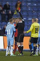 Michael Svendsen, dommer, Ronnie Schwartz (Randers FC), Chris S�rensen (Randers FC)