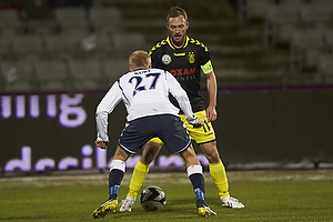 Dennis Rommedahl, anf�rer (Br�ndby IF), Anders Kure (Agf)