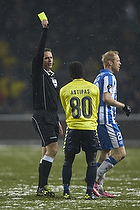 Jakob Kehlet, dommer, Quincy Antipas (Br�ndby IF)