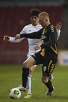Cristian Bolanos (FC K�benhavn), Steffen Kielstrup (AC Horsens)