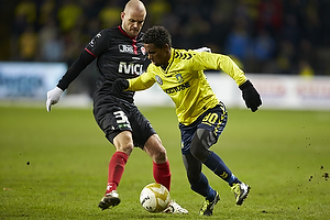 Quincy Antipas (Br�ndby IF), Kristian Bak Nielsen, anf�rer (FC Midtjylland)