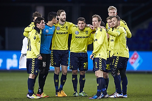 Frederik Holst (Br�ndby IF), Daniel Stenderup (Br�ndby IF), Michael Falkesgaard (Br�ndby IF), Clarence Goodson (Br�ndby IF), Jan Kristiansen (Br�ndby IF), Anders Randrup (Br�ndby IF), Simon Makienok Christoffersen (Br�ndby IF), Jens Larsen (Br�ndby IF), Dennis Rommedahl, anf�rer (Br�ndby IF)