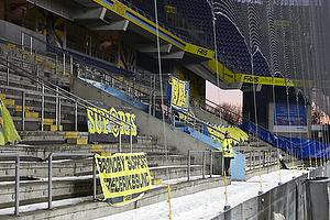 Fan-banner p� Sydsiden