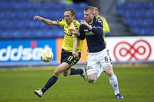 Dennis Rommedahl, anf�rer (Br�ndby IF), Adam Eckersley (Agf)