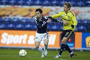 Osama Akharraz (Agf), Jens Larsen (Br�ndby IF)