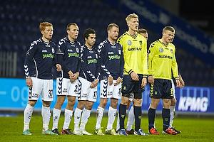 Mikkel Kirkeskov (Agf), Kasper Povlsen (Agf), Osama Akharraz (Agf), Hjalte N�rregaard (Agf), Simon Makienok Christoffersen (Br�ndby IF), Mikkel Thygesen, anf�rer (Br�ndby IF)
