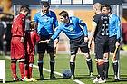Jens Maae, dommer, Nikolaj Stokholm, anf�rer (FC Nordsj�lland)