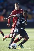 Rilwan Olanrewaju Hassan (FC Midtjylland), Nikolaj Stokholm, anf�rer (FC Nordsj�lland)