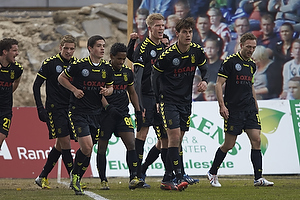 Simon Makienok Christoffersen, m�lscorer (Br�ndby IF), Dario Dumic (Br�ndby IF), Patrick Da Silva (Br�ndby IF), Quincy Antipas (Br�ndby IF)