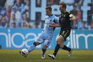 Jonas Kamper (Randers FC), Dennis Rommedahl, anf�rer (Br�ndby IF)