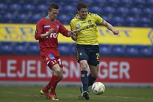 Jan Kristiansen (Br�ndby IF), Lasse Vibe (S�nderjyskE)