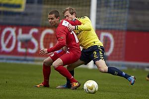 Anders Randrup (Br�ndby IF), Florian Hart (S�nderjyskE)