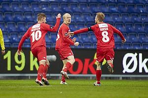 Tommy Bechmann, m�lscorer (S�nderjyskE), Nicolai Madsen (S�nderjyskE), Henrik Hansen, anf�rer (S�nderjyskE)