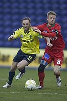 Dennis Rommedahl, anf�rer (Br�ndby IF), Henrik Hansen, anf�rer (S�nderjyskE)