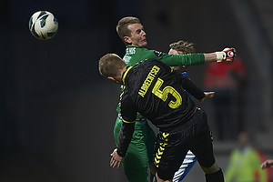 Martin Albrechtsen (Br�ndby IF), Lukas Hradecky (Esbjerg fB)