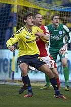 Dario Dumic, anf�rer (Br�ndby IF), Jesper Mikkelsen (Silkeborg IF)