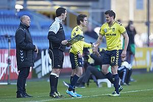 Auri Skarbalius, cheftr�ner (Br�ndby IF), Mathias Gehrt (Br�ndby IF), Jan Kristiansen (Br�ndby IF)