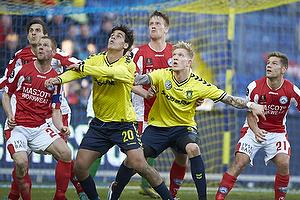 Dario Dumic, anf�rer (Br�ndby IF), Simon Makienok Christoffersen (Br�ndby IF)