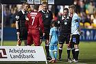 Nikolaj Stokholm, anf�rer (FC Nordsj�lland), Michael Svendsen, dommer, Henrik Hansen, anf�rer (S�nderjyskE)
