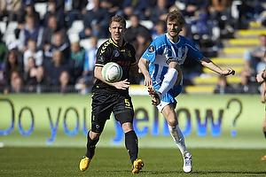 Morten Skoubo (Ob), Martin Albrechtsen, anf�rer (Br�ndby IF)