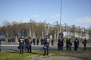 Politiet ved Br�ndby Stadion