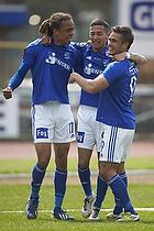 Yussuf Y. Poulsen, m�lscorer (Lyngby BK), David Katz Boysen (Lyngby BK)