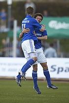 Patrick Mortensen, m�lscorer (Lyngby BK), Ryan Johnson Laursen (Lyngby BK)