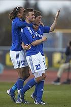 Patrick Mortensen, m�lscorer (Lyngby BK), Ryan Johnson Laursen (Lyngby BK), Yussuf Y. Poulsen (Lyngby BK)