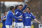 Patrick Mortensen, m�lscorer (Lyngby BK), Ryan Johnson Laursen (Lyngby BK), Yussuf Y. Poulsen (Lyngby BK), Mathias Tauber (Lyngby BK)