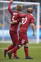 Anders Christiansen, m�lscorer (FC Nordsj�lland), Lasse Petry (FC Nordsj�lland)