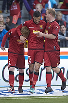 Anders Christiansen, m�lscorer (FC Nordsj�lland), Oguzhan Aynaoglu (FC Nordsj�lland), Lasse Petry (FC Nordsj�lland)