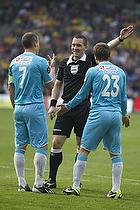 Nikolaj Stokholm, anf�rer (FC Nordsj�lland), Mario Ticinovic (FC Nordsj�lland), Mads-Kristoffer Kristoffersen, dommer