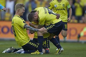 Leogang Phiri, m�lscorer (Br�ndby IF), Mikkel Thygesen (Br�ndby IF), Simon Makienok Christoffersen (Br�ndby IF)