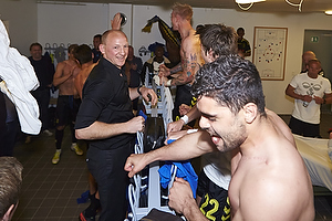 Auri Skarbalius, cheftr�ner (Br�ndby IF), Daniel Norouzi (Br�ndby IF)