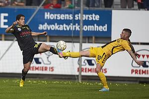 Patrick Da Silva (Br�ndby IF), Martin Spelmann (AC Horsens)