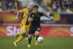 Patrick Da Silva (Br�ndby IF), Ken Fagerberg (AC Horsens)