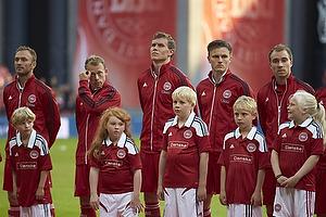 Dennis Rommedahl (Danmark), Michael Krohn-Dehli (Danmark), Simon Busk Poulsen (Danmark), William Kvist J�rgensen (Danmark), Christian Eriksen (Danmark), Niki Zimling, anf�rer (Danmark)