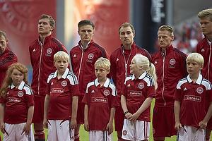 Christian Eriksen (Danmark), Simon Busk Poulsen (Danmark), Christian Eriksen (Danmark), Niki Zimling, anf�rer (Danmark), Andreas Cornelius (Danmark)