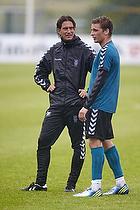 Thomas Frank, cheftr�ner (Br�ndby IF), Jens Larsen (Br�ndby IF)
