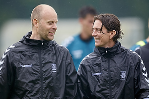 Claus N�rgaard, assistenttr�ner (Br�ndby IF), Thomas Frank, cheftr�ner (Br�ndby IF)